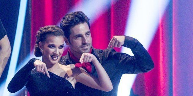 Yana Olina y David Bustamante, en 'Bailando con las estrellas'