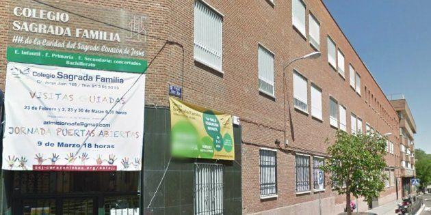 Fachada del Colegio Sagrada Familia del barrio de Salamanca de Madrid, donde se ha denunciado el último...