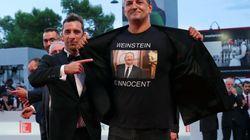 Un director italiano lleva una camiseta en defensa de Harvey Weinstein al Festival de