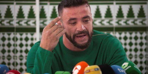 David Serrano Alcaide, dueño de la finca de Totalán, en una rueda de