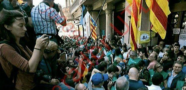 Fotografía mostrada por el abogado de Jordi