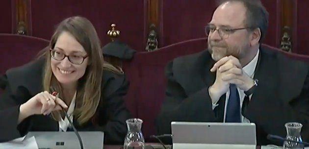 Marina Roig, abogada de Òmnium y Jordi