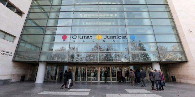 Fachada del edificio principal de la Ciudad de la Justicia de Valencia, donde se han enjuiciado los