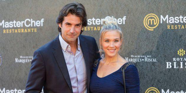 Álex Adrover y Patricia Montero en la inauguración del restaurante Masterchef, en junio de