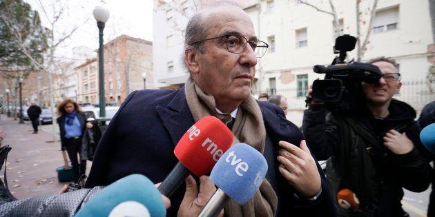 Francis Franco, el pasado enero, llegando a un juzgado de Teruel, donde se le investiga por atentado...