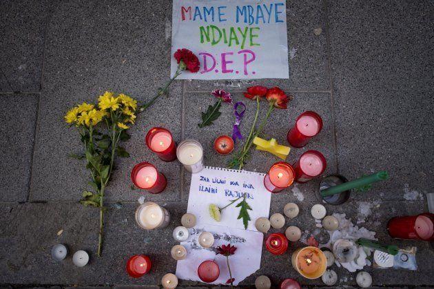 Protestas en Lavapiés al morir un mantero de un