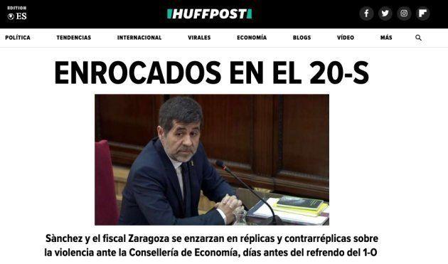 Jordi Sànchez y su declaración en el juicio del