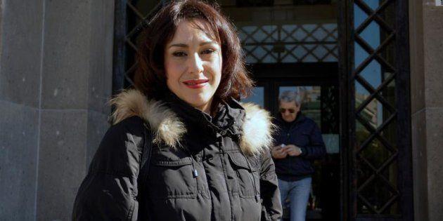 Juana Rivas a su salida de la última vista por la custodia de los hijos de la madre de Maracena en los...