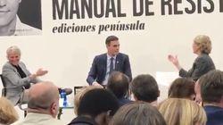 La cara de Pedro Sánchez tras la polémica frase de Mercedes Milá sobre Albert Rivera y
