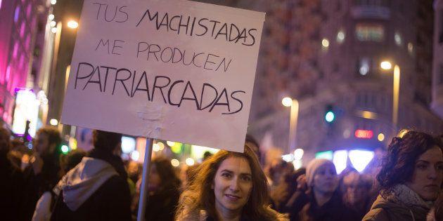 Una manifestante en Madrid el 8 de marzo de