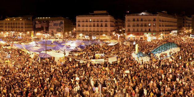 Puerta del Sol, Madrid, mayo de