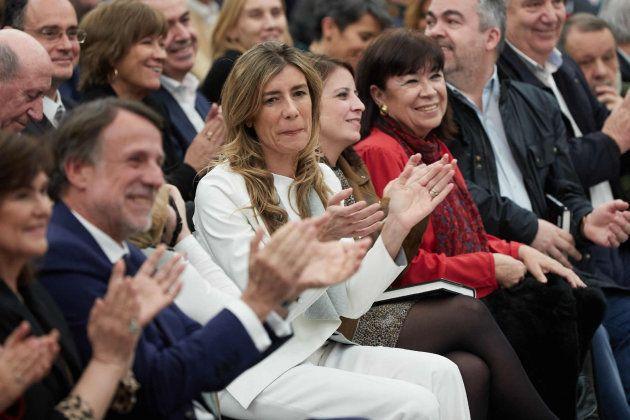 Begoña Gómez, mujer de Pedro Sánchez, durante la presentación de 'Manual de resistencia', el libro de...
