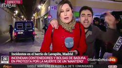 Una reportera de TVE, gravemente increpada en pleno