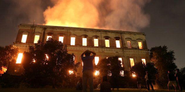El incendio del Museo Nacional de Río de