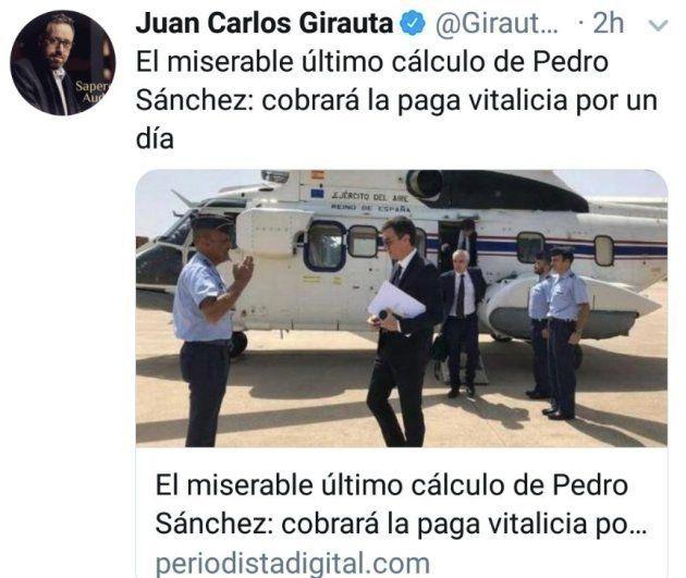Tuit de Juan Carlos