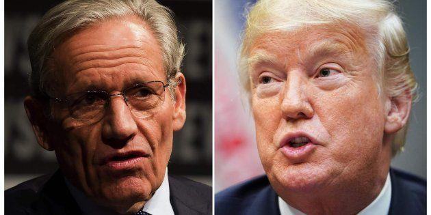 Combo con las imágenes de Woodward (izq) y Trump
