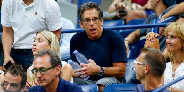 El actor Ben Stiller durante el partido de