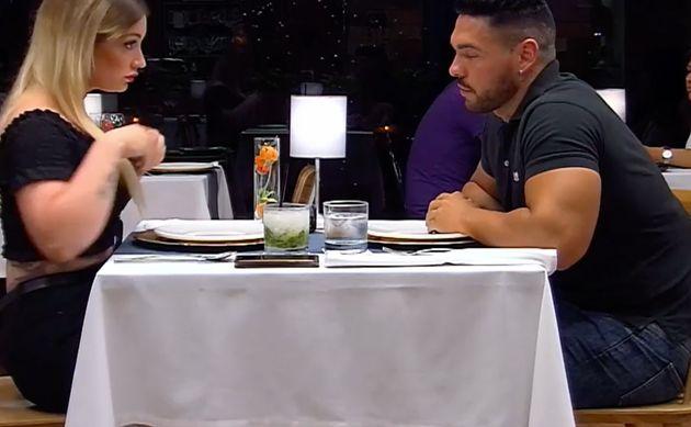 La chica más borde de la historia de 'First Dates' ve aparecer a su musculada cita y sucede lo que nadie