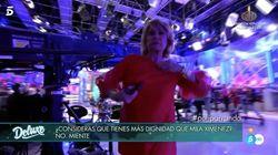 Mila Ximénez se enfada y abandona en directo el plató de 'Sábado