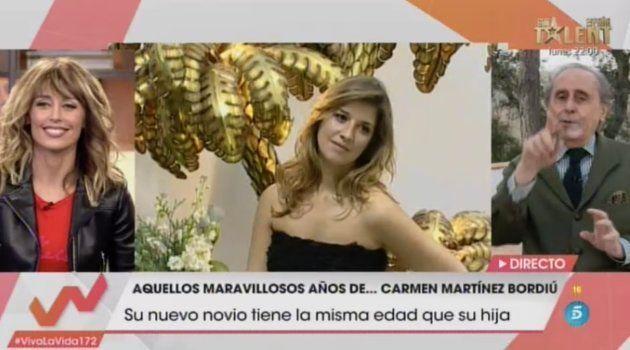 Jaime Peñafiel interviene en una tertulia en 'Viva la