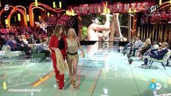 Nacho Montes quita la peluca en directo a Leticia