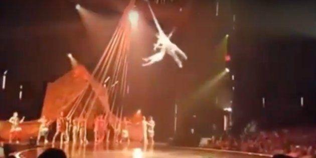 Un acróbata del Circo del Sol muere en una caída en pleno