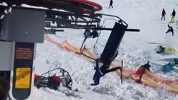 Un fallo en un telesilla de Georgia provoca esta escena de
