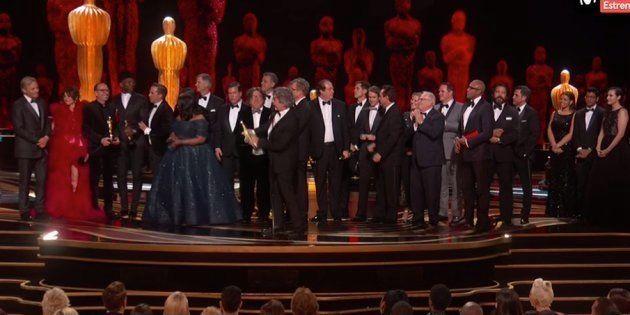 El equipo de 'Green Book' recoge el Oscar a Mejor