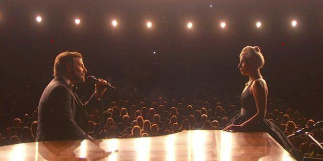 La ovación que nadie ha visto después de que Bradley Cooper y Lady Gaga cantaran 'Shallow' ('Ha nacido...