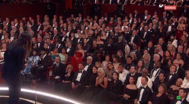 Lady Gaga con Irina Shayk y Bradley