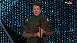 Olivia Colman protagoniza el discurso más espontáneo de la noche de los