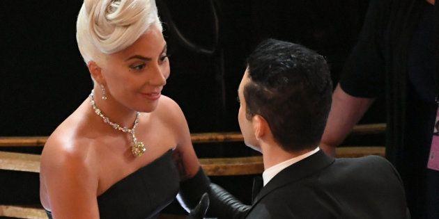 El tierno momento de Lady Gaga y Rami Malek que hizo enloquecer a sus