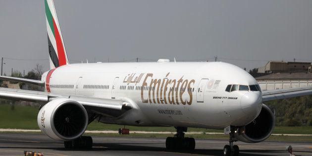 Un avión de Emirates, el pasado abril, en