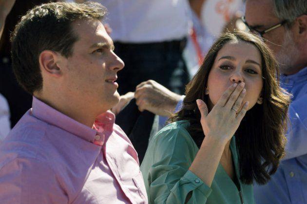 Albert Rivera e Inés Arrimadas en un acto público de
