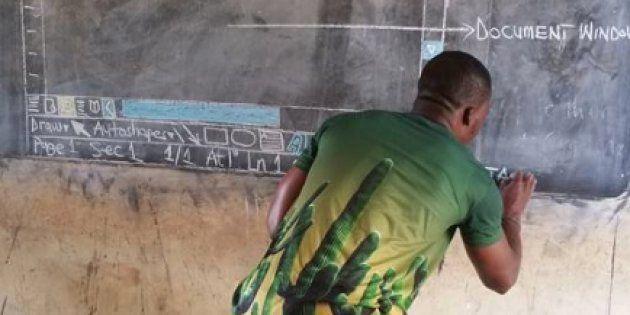 El cambio radical en la vida de Owura Kwadwo, el profesor que enseñaba informática pintando en la