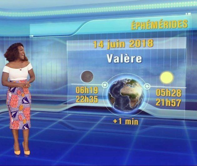 Cécile Djunga, durante una emisión