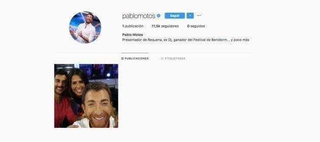 Pablo Motos publica su primera foto en Instagram y pasa lo contrario de lo que