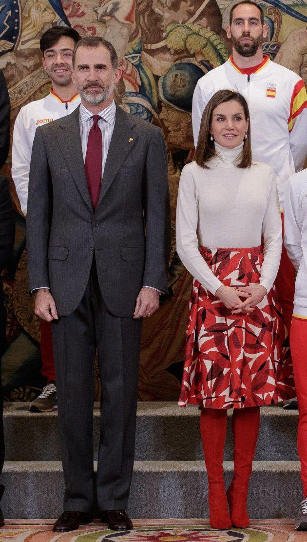 Los reyes reciben al equipo olímpico español en la Zarzuela el 6 de marzo de