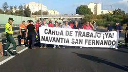 Los trabajadores de Navantia protestan ante la posible pérdida del contrato con Arabia