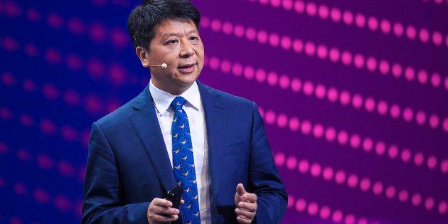 Guo Ping, durante su intervención de hoy en el MWC de