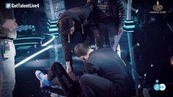 Un concursante de 'Got Talent' sufre una caída y pierde el
