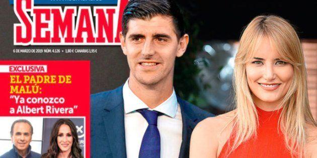 El portero del Real Madrid Thibaut Courtois, la nueva pareja de Alba