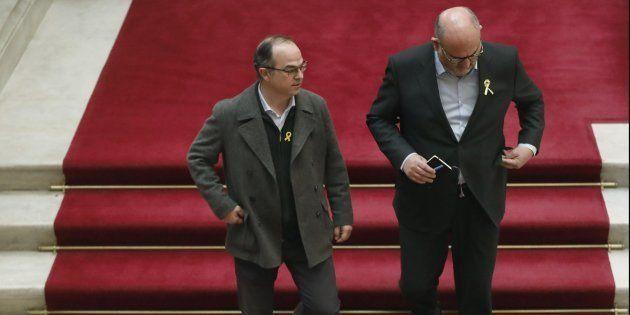 Jordi Turull y Eduard