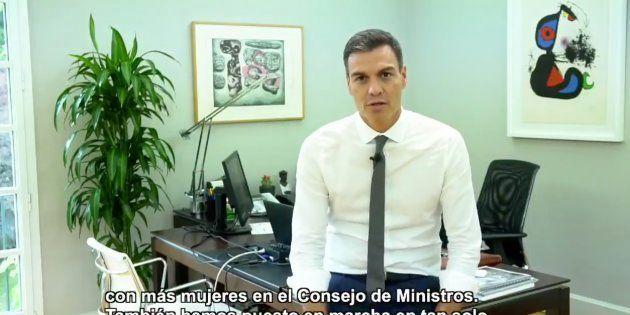 Pedro Sánchez hace balance de sus primeros 100 días en el Gobierno con un vídeo en