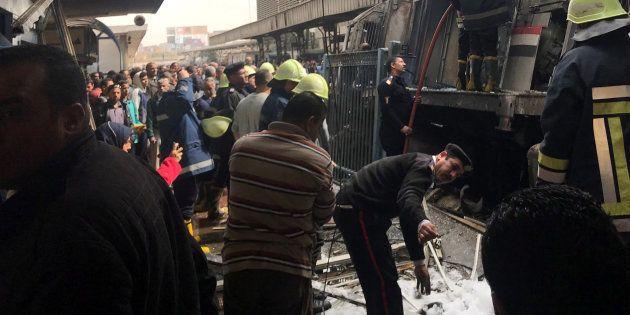 Incendio en la estación de
