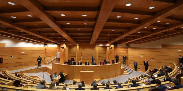 El salón de plenos del Senado, en una imagen de