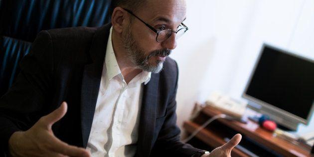 Carles Campuzado, portavoz del PDeCAT en el Congreso, durante una reciente entrevista con 'El