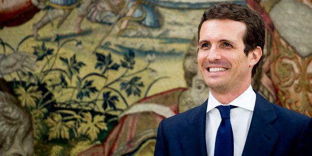 Pablo Casado, el pasado 25 de julio en el Palacio de la
