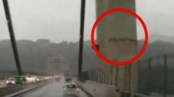 El vídeo que demuestra el mal estado en el que estaba el puente de