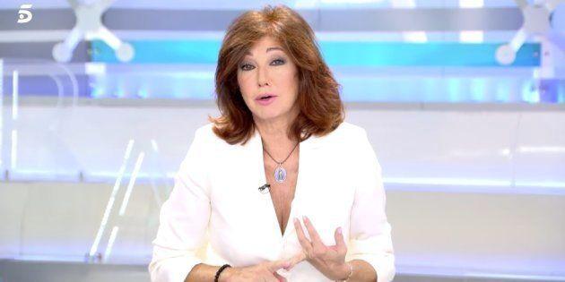 Ana Rosa Quintana se sincera en directo sobre la detención de su marido, Juan